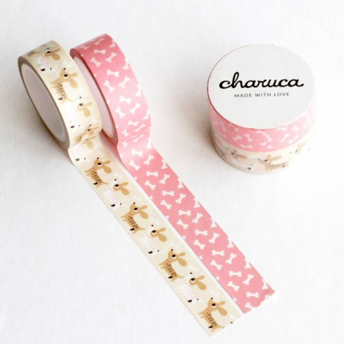 WASHI TAPE PERRITOS. LORA BAILORA