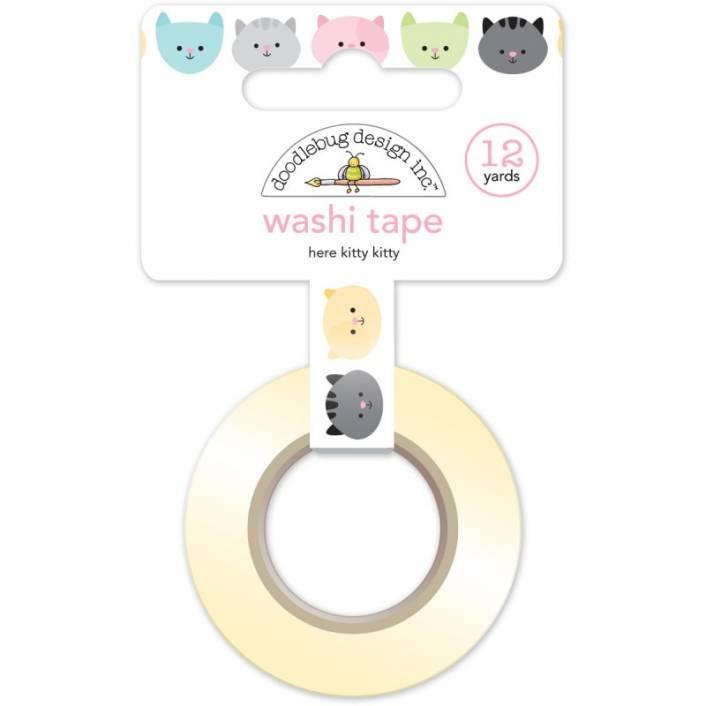 HERE KITTY KITTY WASHI TAPE