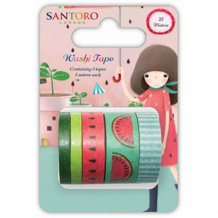 SET DE WASHI TAPES MELON. SANTORO