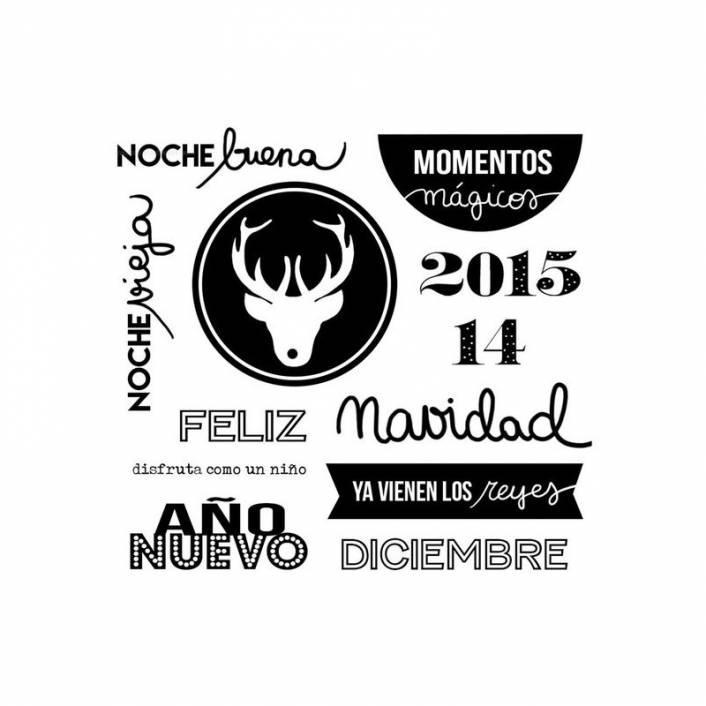 SET DE SELLOS NAVIDAD 2015. LORA BAILORA