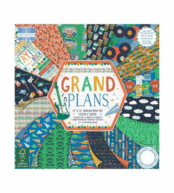 COLECCIÓN DE PAPELES 30X30 GRAND PLANS. CRAFT SMITH