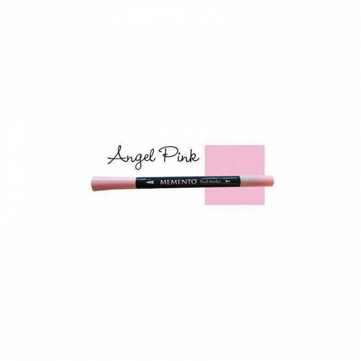 ROTULADOR DOBLE PUNTA MEMENTO ANGEL PINK