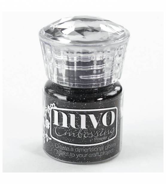 EMBOSSING POWDER GLITTER NOIR. NUVO