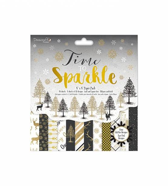 COLECCIÓN DE PAPELES 30X30 TIME TO SPARKLE. DOVECRAFT