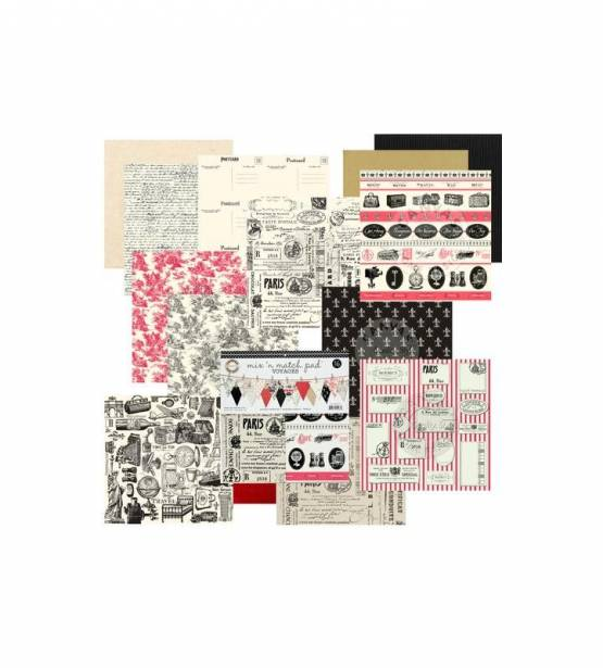 KIT DE SCRAPBOOKING 30X30 VOYAGES. CANVAS
