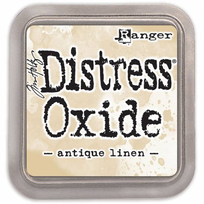 TINTA DISTRESS OXIDE ANTIQUE LINEN. RANGER