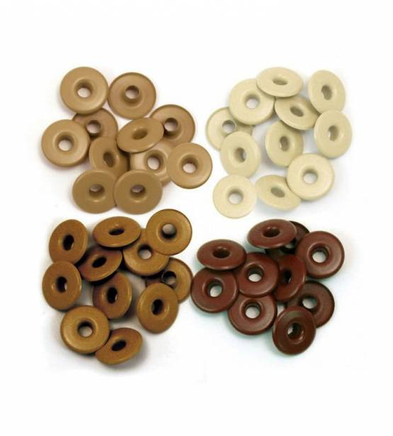 EYELETS MARRONES GRANDES. WE R MEMORY KEEPERS