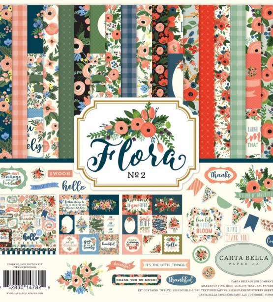 KIT DE SCRAPBOOKING 30X30 FLORA N.2. CARTA BELLA.