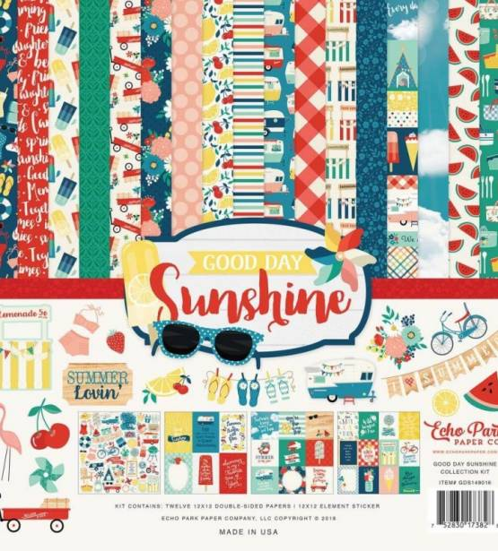 KIT DE SCRAPBOOKING 30X30 GOOD DAY SUNSHINE . ECHO PARK