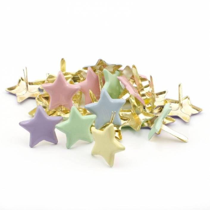 BRADS ESTRELLA TONOS PASTEL. CREATIVE COLLECTION