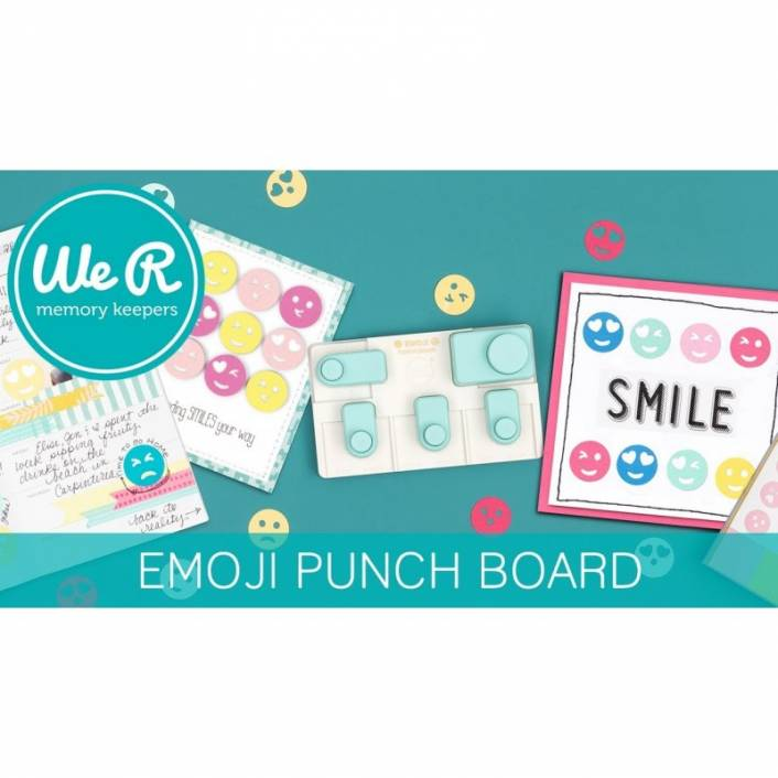 EMOJI PUNCH BOARD. WE R MEMORY KEEPERS