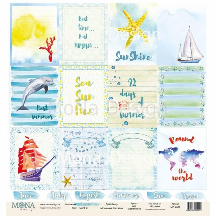 PAPEL 30X30 CARD SHEET - SEA PARTY. MONA DESIGN