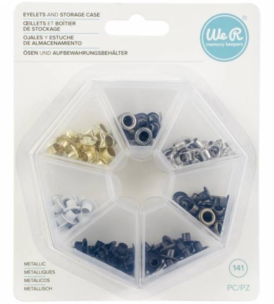 EYELETS METALIZADOS CON CAJA. WE R MEMORY KEEPERS