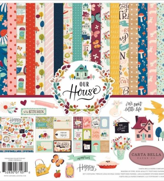 KIT DE SCRAPBOOKING 30X30 OUR HOUSE. CARTA BELLA