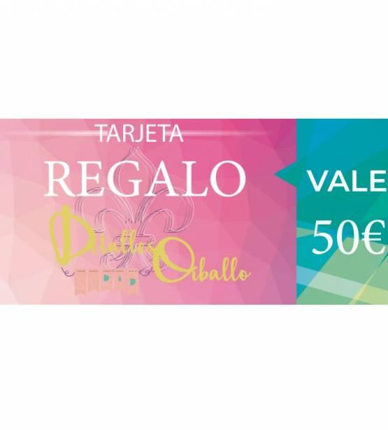 TARJETA REGALO 50€. DETALLES ORBALLO