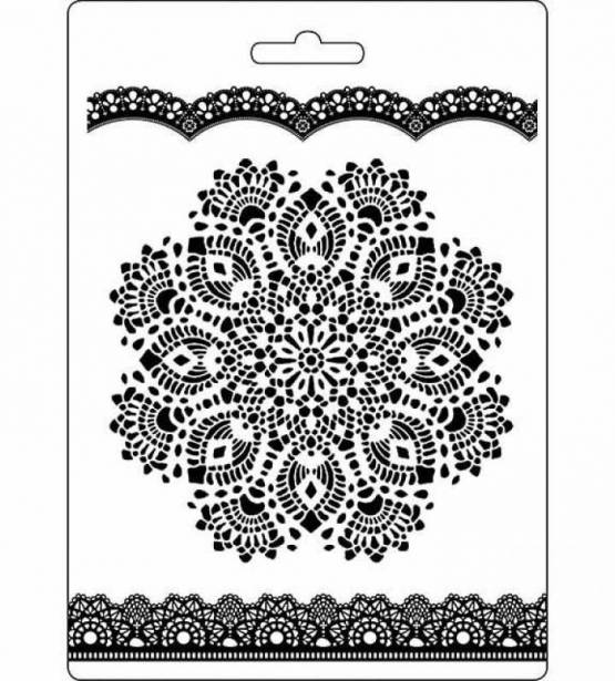 MOLDE PARA MIX MEDIA DOILY PATTERN. STAMPERIA
