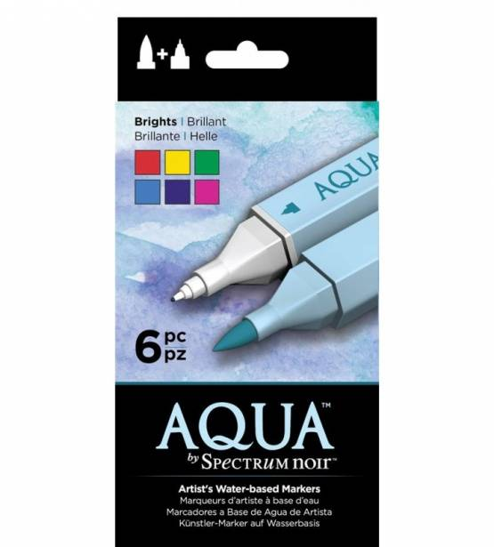 SET DE 6 ROTULADORES ACUARELABLES AQUA BRIGHTS. SPECTRUM NOIR