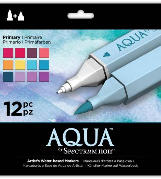SET DE 12 ROTULADORES ACUARELABLES AQUA PRIMARY. SPECTRUM NOIR