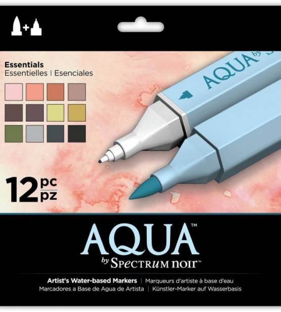 SET DE 12 ROTULADORES ACUARELABLES AQUA ESSENTIAL. SPECTRUM NOIR
