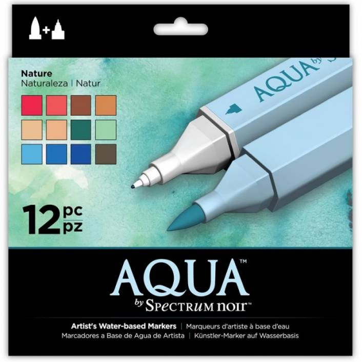 SET DE 12 ROTULADORES ACUARELABLES AQUA NATURE. SPECTRUM NOIR