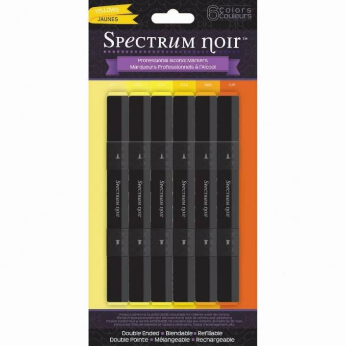 SET DE 6 ROTULADORES YELLOWS. SPECTRUM NOIR