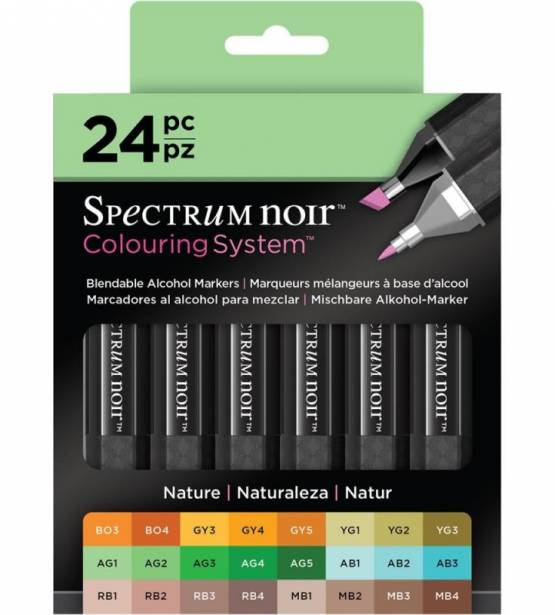 SET DE 24 ROTULADORES NATURE. SPECTRUM NOIR