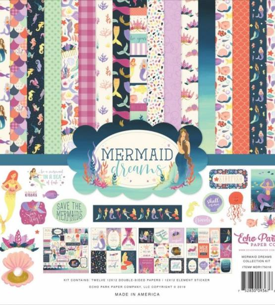 KIT DE SCRAPBOOKING 30X30CM MERMAID DREAMS ECHO PARK