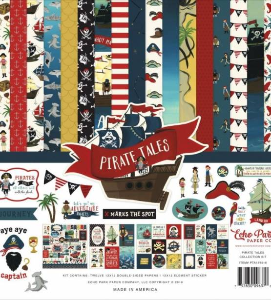 KIT DE SCRAPBOOKING 30X30CM PIRATE TALES ECHO PARK