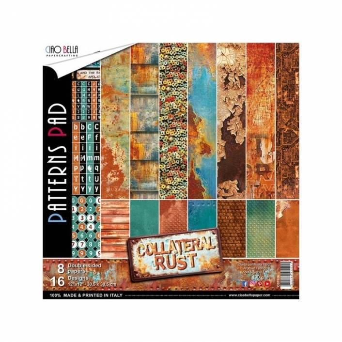 COLECCION DE PAPELES 30X30 PATTERNS COLLATERAL RUST. CIAO BELLA