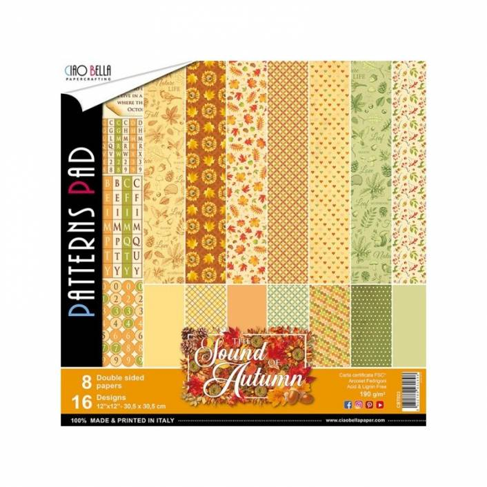 COLECCION DE PAPELES 30X30 PATTERNS SOUND OF AUTUM. CIAO BELLA