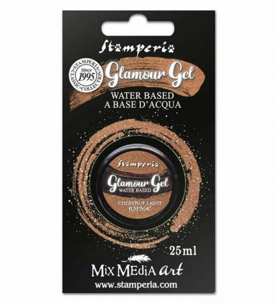 PINTURA GLAMOUR GEL CHESTNUT LIGHT. STAMPERIA