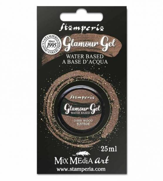 PINTURA GLAMOUR GEL DARK WOOD. STAMPERIA