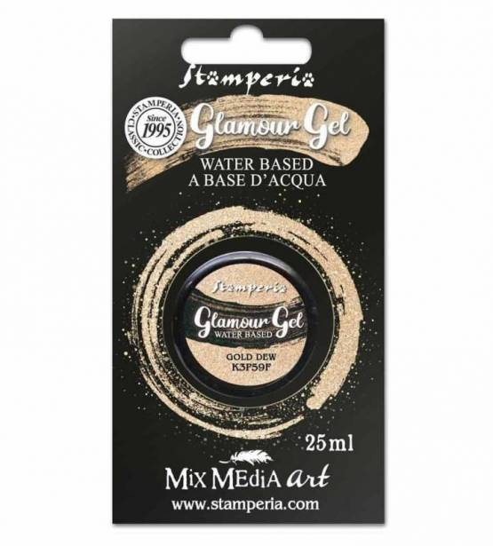 PINTURA GLAMOUR GEL GOLD DEW. STAMPERIA