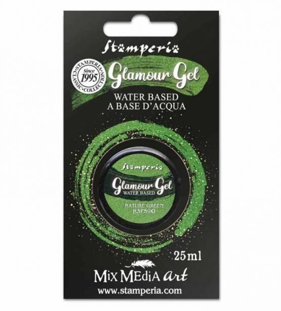 PINTURA GLAMOUR GEL NATURE GREEN. STAMPERIA