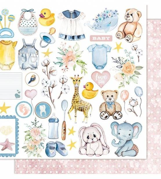 PAPEL 30X30 RECORTABLES TEDDY BEAR. SWEETIE BABY. KORA PROJECTS