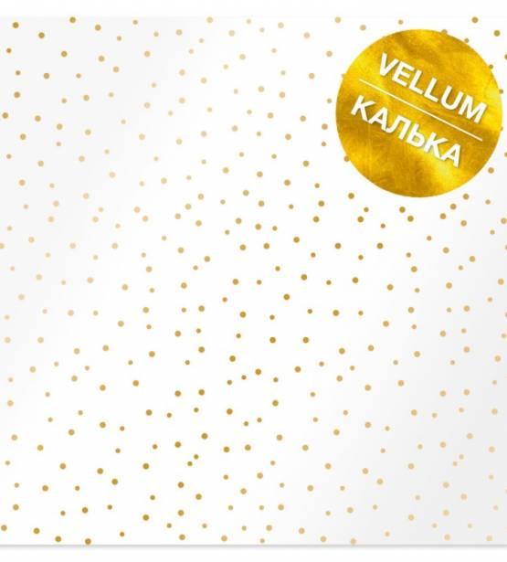 VELLUM 30X30 GOLDEN MINI DROPS. FABRIKA DECORU