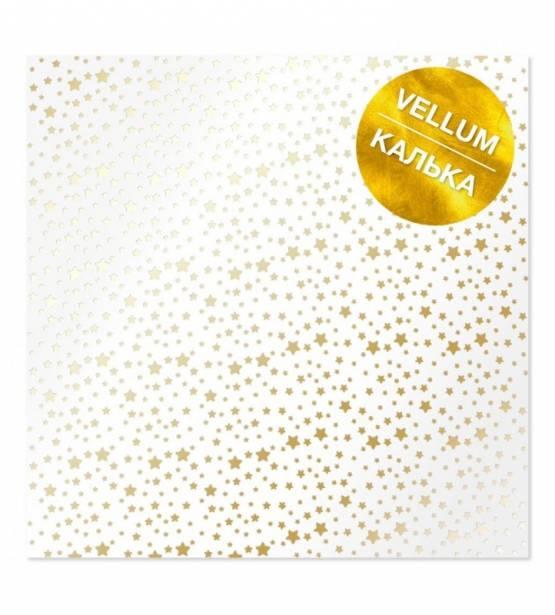 VELLUM 30X30 GOLDEN STARS. FABRIKA DECORU