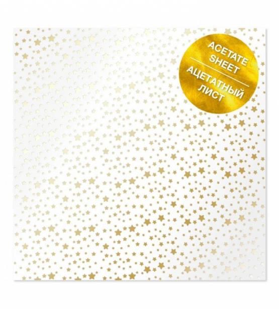 ACETATO 30X30 GOLDEN STARS. FABRICA DECORU