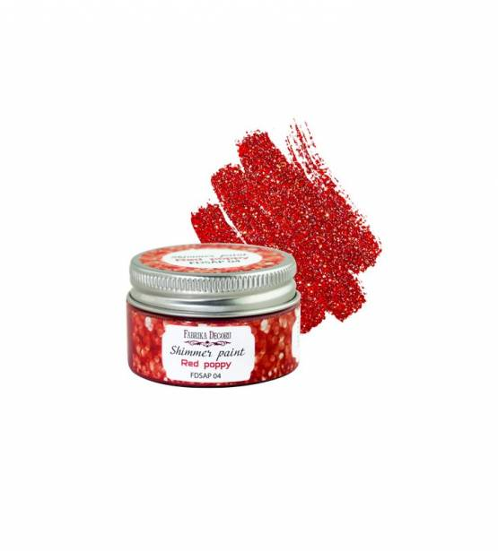 SHIMMER PAINT RED POPPY. FABRIKA DECORU