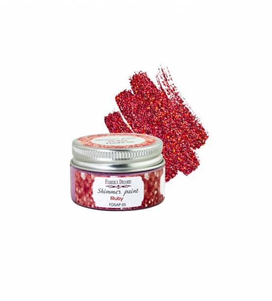 SHIMMER PAINT RUBY. FABRIKA DECORU