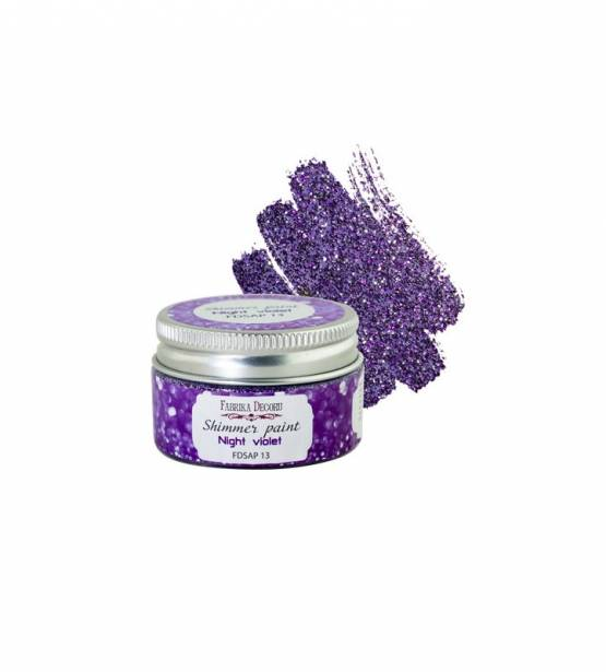 SHIMMER PAINT NIGHT VIOLET. FABRIKA DECORU