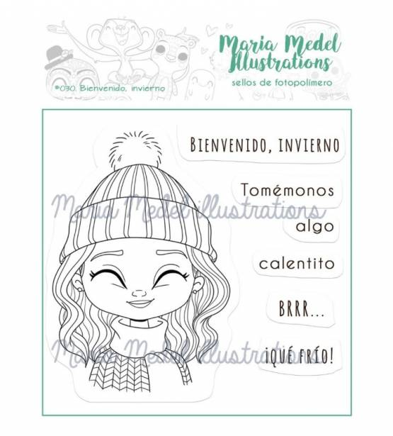 SET DE SELLOS BIENVENIDO INVIERNO. MARIA MEDEL