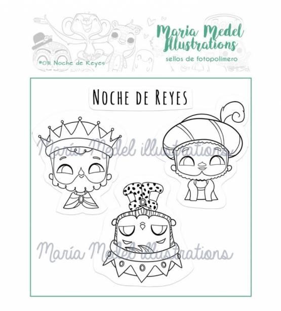 SET DE SELLOS NOCHE DE REYES. MARIA MEDEL